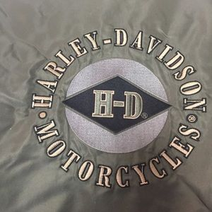 Harley-Davidson Jackets & Coats - Harley Davidson Nylon & Leather Jacket